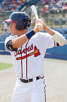 Hilton Richardson #15 of the Rome Braves waits in the on deck circle during the game against the Hagerstown Suns at State Mutual Stadium on May 2, 2011 in Rome, Georgia.   Photo by Brian Westerholt / Four Seam Images