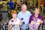 GET IN SHAPE: Listowel Community Gym is running a 'Drop a Dress Size or Your Money Back' course this month. Pictured here are gym-users Mary Flaherty, Eamon Keane and Phil O'Connell (Co-ordinator).