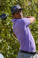 Rafael Cabrera Bello (ESP) watches his tee shot on 12 during round 1 of the World Golf Championships, Dell Match Play, Austin Country Club, Austin, Texas. 3/21/2018.<br /> Picture: Golffile | Ken Murray<br /> <br /> <br /> All photo usage must carry mandatory copyright credit (&copy; Golffile | Ken Murray)