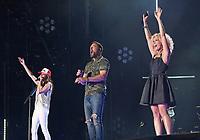 11 June 2017 - Nashville, Tennessee - Karen Fairchild, Jimi Westbrook, Kimberly Schlapman, Little Big Town. 2017 CMA Music Festival Nightly Concert held at Nissan Stadium. Photo Credit: Laura Farr/AdMedia