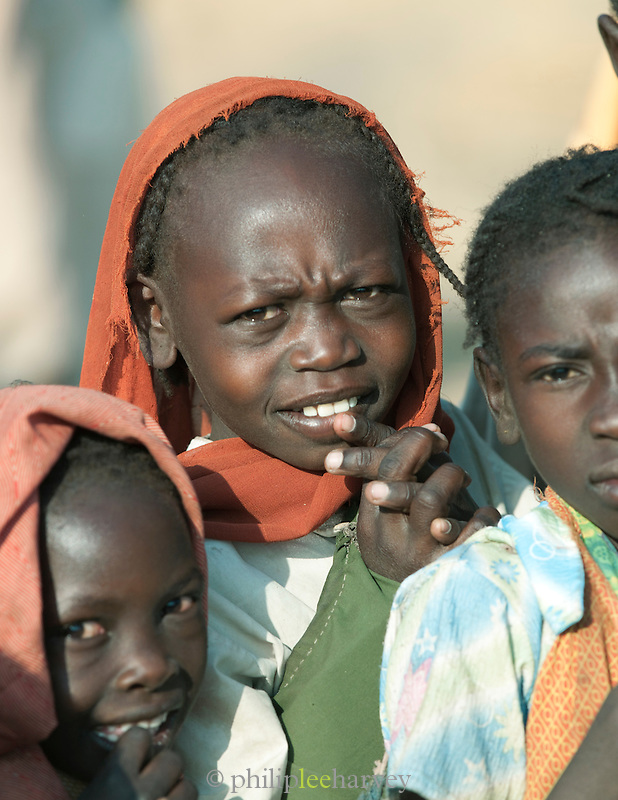 Children of the Nuba tribe in Nyaro village, Kordofan region, Sudan