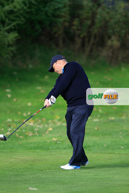 John Murray (Malahide G.C) on the 3rd tee during Round 2 of The Cassidy Golf 103rd Irish PGA Championship in Roganstown Golf Club on Friday 11th October 2013.<br /> Picture:  Thos Caffrey / www.golffile.ie