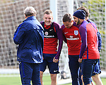 England's Jamie Vardy shares a joke during training at the Tottenham Hotspur Training Centre.  Photo credit should read: David Klein/Sportimage