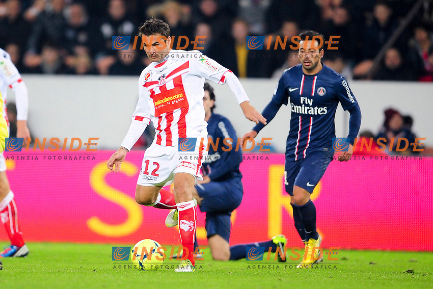 Adrian Mutu (Ajaccio) .Football Calcio 2012/2013.Ligue 1 Francia.Foto Panoramic / Insidefoto .ITALY ONLY