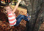 It's autumn and time to climb trees in Madison's Arboretum.