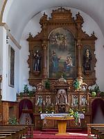 Altar, Kirche des Kapuzinerkloster in Imst, Tirol, &Ouml;sterreich, Europa<br /> Altar in church of capuchin monastery, Imst, Tyrol, Austria, Europe