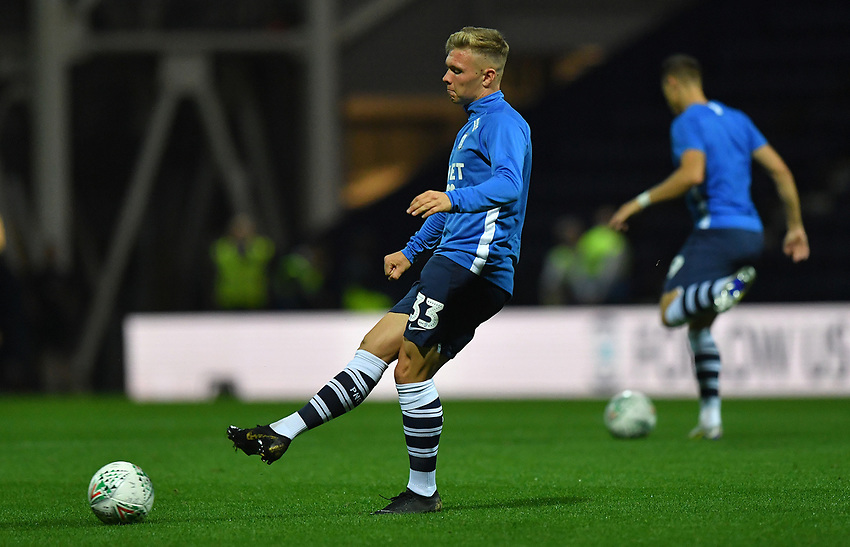 Preston North End's Ethan Walker<br /> <br /> Photographer Dave Howarth/CameraSport<br /> <br /> The Carabao Cup Second Round - Preston North End v Hull City - Tuesday 27th August 2019  - Deepdale Stadium - Preston<br />  <br /> World Copyright © 2019 CameraSport. All rights reserved. 43 Linden Ave. Countesthorpe. Leicester. England. LE8 5PG - Tel: +44 (0) 116 277 4147 - admin@camerasport.com - www.camerasport.com