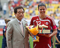 Christine Sinclair. The USWNT defeated Canada, 1-0, at Suwon World Cup Stadium in Suwon, South Korea, to win the Peace Queen Cup.