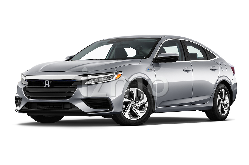 Stock pictures of low aggressive front three quarter view of a 2019 Honda Insight EX 4 Door Sedan