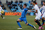 Getafe´s Alvaro (L) and Sevilla´s Kolo during 2014-15 La Liga match at Alfonso Perez Coliseum stadium in Getafe, Spain. February 08, 2015. (ALTERPHOTOS/Victor Blanco)
