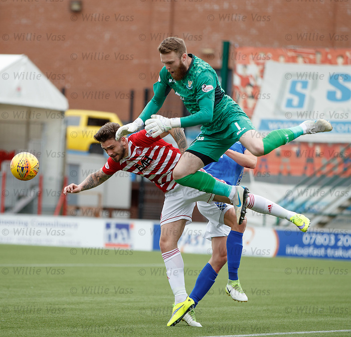 18.05.2019 Hamilton v St Johnstone: Zander Clark and George Oakley