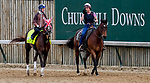 LOUISVILLE, KENTUCKY - MAY 01: Master Fencer, trained by Koichi Tsunoda, exercises in preparation for the Kentucky Derby at Churchill Downs in Louisville, Kentucky on May 1, 2019. John Voorhees/Eclipse Sportswire/CSM