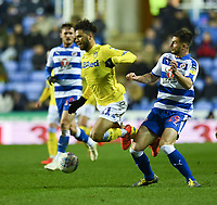 Leeds United's Tyler Roberts (centre) under pressure from Reading's Matt Miazga (right) <br /> <br /> Photographer David Horton/CameraSport<br /> <br /> The EFL Sky Bet Championship - Reading v Leeds United - Tuesday 12th March 2019 - Madejski Stadium - Reading<br /> <br /> World Copyright © 2019 CameraSport. All rights reserved. 43 Linden Ave. Countesthorpe. Leicester. England. LE8 5PG - Tel: +44 (0) 116 277 4147 - admin@camerasport.com - www.camerasport.com