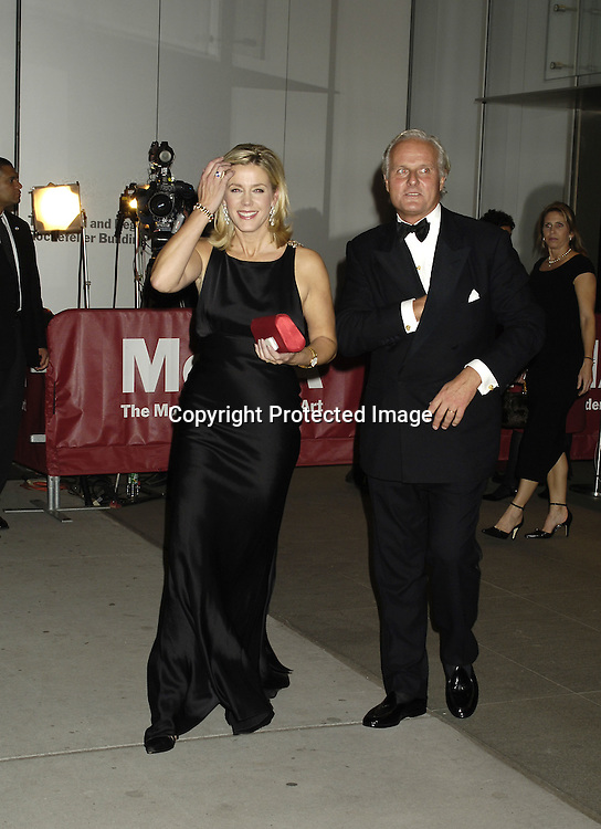 Deborah Norville and husband Karl Wellner ..at The Museum of Modern Art for a party for Prince Charles and The Duchess of Cornwall on November 1, 2005. ..Photo by  Robin Platzer, Twin Images