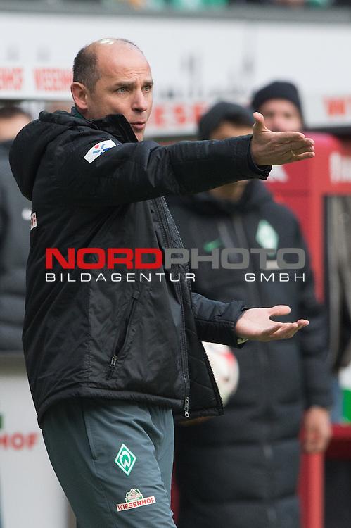 04.04.2015, Weser Stadion, Bremen, GER, 1.FBL. Werder Bremen vs 1. FSV Mainz 05, im Bild<br /> <br /> <br /> Viktor Skripnik (Trainer Werder Bremen<br /> Einzelaktion, Ganzk&ouml;rper / Ganzkoerper,<br /> Gestik, Mimik,<br /> <br /> <br /> Foto &copy; nordphoto / Kokenge