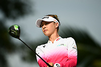 SINGAPORE - MARCH 02: Nelly Korda of USA walking-off the on the 2nd tee during the third round of the HSBC Women's World Championship 2019 at Sentosa Golf Club - Tanjong Course, Singapore on March 02, 2019.<br /> .<br /> .<br /> .<br /> (Photo by: Naratip Golf Srisupab/SEALs Sports Images)<br /> .<br /> Any image use must include a mandatory credit line adjacent to the content which should read: Naratip Golf Srisupab/SEALs Sports Images