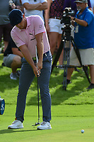 Bryson DeChambeau (USA) watches his putt on 16 during round 1 of the 2019 Charles Schwab Challenge, Colonial Country Club, Ft. Worth, Texas,  USA. 5/23/2019.<br /> Picture: Golffile | Ken Murray<br /> <br /> All photo usage must carry mandatory copyright credit (© Golffile | Ken Murray)