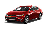 2017 Chevrolet Malibu Premier 4 Door Sedan angular front stock photos of front three quarter view