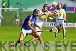 Paul Galvin Lixnaw in action against Colman Savage Kilmoyley in the County Senior Hurling final at Austin Stack Park on Saturday.