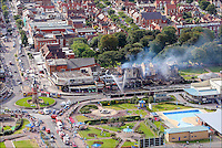 PHOTO BY  © Stephen Daniels 17/08/2007<br /> Fire damage on the Sea front nr Clock tower, Skegness, Lincs