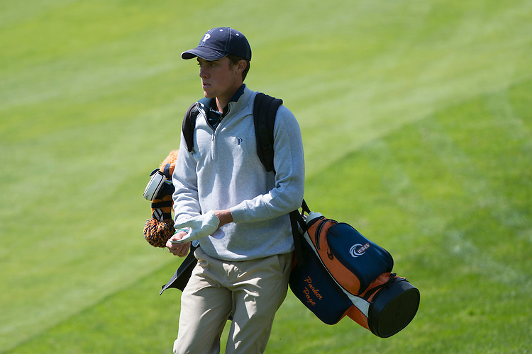 April 16, 2013; Bremerton, WA, USA; Pepperdine Waves golfer Parker Page during the WCC Golf Championships at Gold Mountain Golf Club.