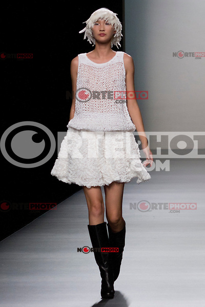 03.09.2012. Models walk the runway in the Carlos Diez fashion show during the Mercedes-Benz Fashion Week Madrid Spring/Summer 2013 at Ifema. (Alterphotos/Marta Gonzalez) /NortePhoto.com<br /> <br /> **CREDITO*OBLIGATORIO** <br /> *No*Venta*A*Terceros*<br /> *No*Sale*So*third*<br /> *** No*Se*Permite*Hacer*Archivo**<br /> *No*Sale*So*third*