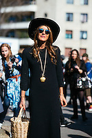 Anna Dello Russo at Paris Fashion Week (Photo by Hunter Abrams/Guest of a Guest)