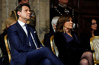 Italian premier Giuseppe Conte and President of Senate Maria Elisabetta Alberti Casellati<br /> Rome December 19th 2018. Quirinale. Traditional exchange of Christmas wishes between the President of the Republic and the institutions.<br /> Foto Samantha Zucchi Insidefoto