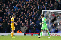 Preston North End's Chris Maxwell trudges off after being shown a red card<br /> <br /> Photographer David Shipman/CameraSport<br /> <br /> The EFL Sky Bet Championship - Ipswich Town v Preston North End - Saturday 3rd November 2018 - Portman Road - Ipswich<br /> <br /> World Copyright &copy; 2018 CameraSport. All rights reserved. 43 Linden Ave. Countesthorpe. Leicester. England. LE8 5PG - Tel: +44 (0) 116 277 4147 - admin@camerasport.com - www.camerasport.com