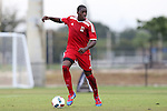 12 January 2016: Thomas Libiih (CMR). The adidas 2016 MLS Player Combine was held on the cricket oval at Central Broward Regional Park in Lauderhill, Florida.