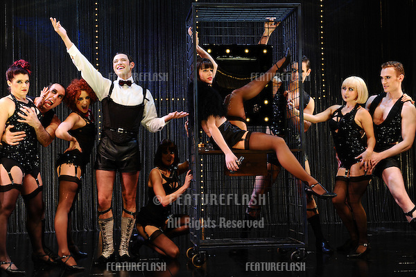 Will Young as Emcee and Michelle Ryan as Sally Bowles in 'Cabaret'  at the Savoy Theatre, London. 08/10/2012 Picture by: Steve Vas / Featureflash