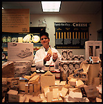 Whole Foods.Supermarket grand opening.Employees ready the Whole Foods Supermarket for its grand opening in downtown Sarasota, Florida. Among them are the butcher, vitamin specialist, cheese lady, seafood specialist and produce stock man. ..On Wednesday, December 8, Whole Foods Market®, the world's leading natural and organic foods supermarket, will open its first store in downtown Sarasota at First Street and Lemon Avenue, making it the company's seventh store in Florida. Known for its high quality standards combined with outstanding customer service Whole Foods Market will provide an unequaled shopping experience in Sarasota in the company's first-ever environmentally-friendly supermarket designed based on the LEED (Leadership in Energy and Environmental Design) Green Building Rating System® which promotes buildings that are environmentally responsible, profitable and healthy places to live and work. ..Founded in 1980 as one small store in Austin, Texas, Whole Foods Market® is now the world's leading retailer of natural and organic foods, with 185 stores in North America and the United Kingdom. To date Whole Foods Market remains uniquely mission driven: We're highly selective about what we sell, dedicated to stringent Quality Standards, and committed to sustainable agriculture. ..We believe in a virtuous circle entwining the food chain, human beings and Mother Earth: each is reliant upon the others through a beautiful and delicate symbiosis..