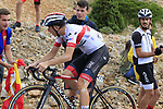 Tadej Pogacar (SLO) Trek-Segafredo on the final Cat 1 climb up to Observatorio Astrofisico de Javalambre during Stage 5 of La Vuelta 2019 running 170.7km from L'Eliana to Observatorio Astrofisico de Javalambre, Spain. 28th August 2019.<br /> Picture: Eoin Clarke | Cyclefile<br /> <br /> All photos usage must carry mandatory copyright credit (© Cyclefile | Eoin Clarke)