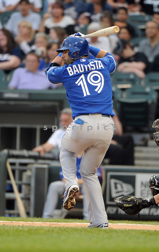 Toronto Blue Jays Jose Bautista (19) during a game against the Chicago White Sox on June 11, 2013 at US Cellular Field in Chicago, IL. The Blue Jays beat the White Sox 7-5.