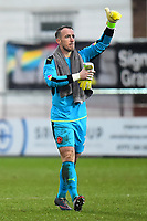 Fleetwood Town's Alex Cairns salutes the fans<br /> <br /> Photographer Richard Martin-Roberts/CameraSport<br /> <br /> The EFL Sky Bet League One - Fleetwood Town v Plymouth Argyle - Saturday 10th March 2018 - Highbury Stadium - Fleetwood<br /> <br /> World Copyright &copy; 2018 CameraSport. All rights reserved. 43 Linden Ave. Countesthorpe. Leicester. England. LE8 5PG - Tel: +44 (0) 116 277 4147 - admin@camerasport.com - www.camerasport.com