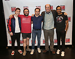 Sawyer nunes, Jay Klaitz, Mitchell Jarvis, Paul Whitty and Manu Narayan attends the Meet and Greet for Broadway's 'Gettin' the Band Back Together' on May 4, 2018 at Manhattan Movement & Arts Center in New York City.