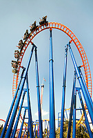 Thrill seekers zoom toward the ground facedown and backwards on the unique Nighthawk thrill ride flying coaster, the Carolinas' only roller coaster that soars riders through eight inversions. The thrill ride is part of Carowinds, a 112-acre theme park is a combination amusement park and water park located on the state lines between North Carolina and South Carolina. The theme park is a popular summer Carolina attraction, one of three major theme parks in the Carolinas. Charlotte's Carowinds is owned by Cedar Fair Entertainment Company.
