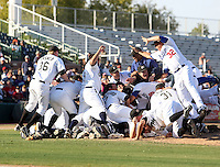 Peoria Javelinas, 2009 Arizona Fall League - The Javelinas celebrate on the field after winning the AFL championship over the Phoenix Desert Dogs, 5-4, at Scottsdale Stadium, Scottsdale, AZ (11/21/2009). .Photo by:  Bill Mitchell/Four Seam Images..