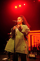 LONDON, ENGLAND - JANUARY 10: Ella Mai performing at Shepherd's Bush Empire on January 10, 2019 in London, England.<br /> CAP/MAR<br /> ©MAR/Capital Pictures