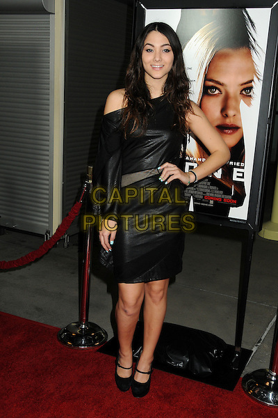 "Fivel Stewart .""Gone"" Los Angeles Premiere held at Arclight Cinemas, Hollywood, California, USA..February 21st, 2012.full length dress off the shoulder sleeve black hand on hip  .CAP/ADM/BP.©Byron Purvis/AdMedia/Capital Pictures."