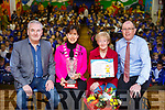 Catherine Dolan, seated 3rd from left at her retirement function at the CBS primary school. Seated l to r: Frank Hartnett (Tralee Municipal District), Cllr: Norma Foley (Mayor of Tralee), Catherine Dolan and Denis Coleman (Principal).