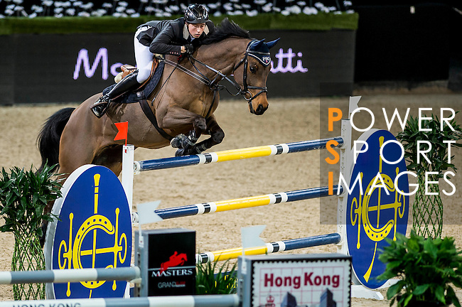 Martin Fuchs of Switzerland riding PSG Future in action during the Hong Kong Jockey Club Trophy competition as part of the Longines Hong Kong Masters on 13 February 2015, at the Asia World Expo, outskirts Hong Kong, China. Photo by Li Man Yuen / Power Sport Images