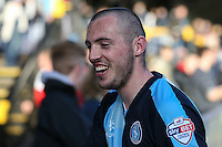 Michael Harriman of Wycombe Wanderers after the Sky Bet League 2 match between Wycombe Wanderers and Mansfield Town at Adams Park, High Wycombe, England on 25 March 2016. Photo by David Horn.