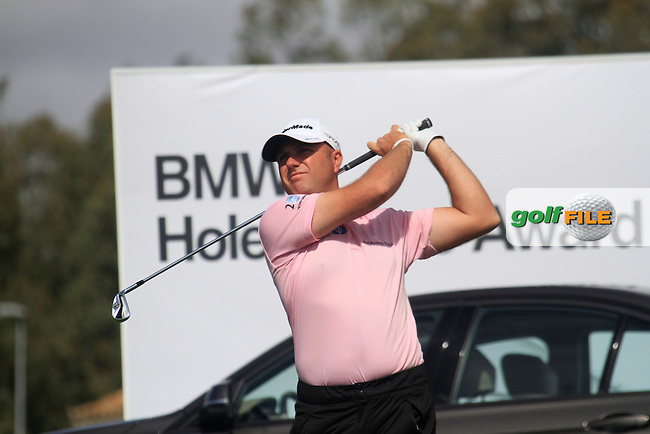 Graeme Storm (ENG) tees off on the par3 17th hole during Friday's Round 2 of the Open de Espana at Real Club de Golf de Sevilla, Seville, Spain, 4th May 2012 (Photo Eoin Clarke/www.golffile.ie)
