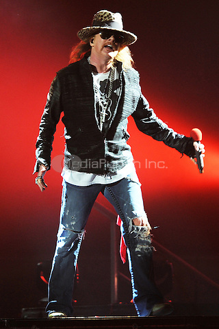 MIAMI, FL - OCTOBER 29:  Axl Rose of Guns N' Roses performs at American Airlines Arena on October 29, 2011 in Miami, Florida. Credit: MediaPunch Inc.