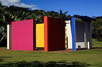 Brumadinho_MG, Brasil...Centro de Arte Contemporanea Inhotim (CACI). Na foto a obra de Helio Oiticica, Invencao da cor, Penetravel Magic Square # 5, De Luxe, 1997...The Inhotim Contemporary Art Center (CACI). In this photo the art of Helio Oiticica, Invencao da cor, Penetravel Magic Square # 5, De Luxe, 1997...Foto: BRUNO MAGALHAES / NITRO
