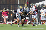 Orange, CA 05/17/14 - Mitch Erickson (Colorado #46) and unidentified Arizona State player(s) in action during the 2014 MCLA Division I Men's Lacrosse Championship game between Arizona State and Colorado at Chapman University in Orange, California.  Colorado defeated Arizona State 13-12.