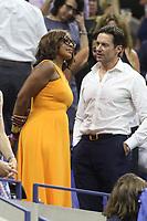 Gayle King Hugh Jackman<br /> 8-27-2018<br /> At the US Tennis Open<br /> Photo by John Barrett/PHOTOlink.net