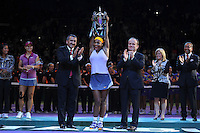 Serena Williams (USA)<br /> Na Li (CHN) <br /> Istanbul 26/10/2013 <br /> Tennis Wta Masters <br /> Foto Virginie Bouyer / Panoramic / Insidefoto