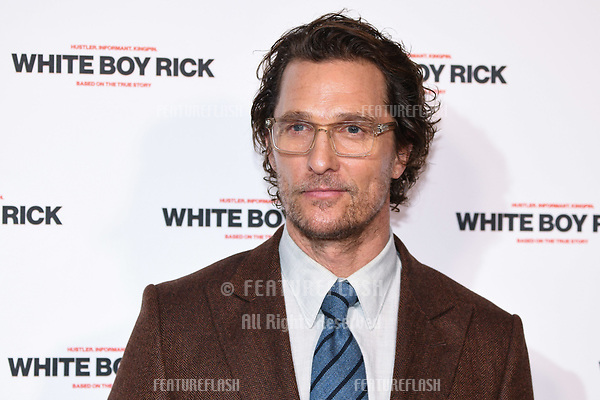 "LONDON, UK. November 27, 2018: Matthew McConaughey at the ""White Boy Rick"" screening at the Picturehouse Central, London.<br /> Picture: Steve Vas/Featureflash"
